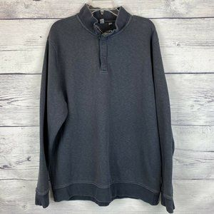 Ashworth 1/4 Zip Pullover XL Dark Blue Warm Tall